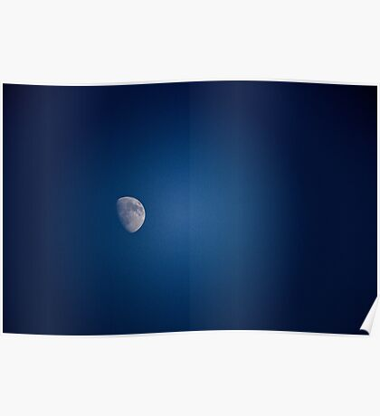 Blue Sky Moon Poster