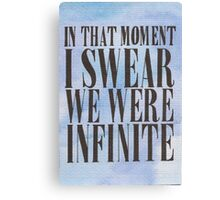 We Were Infinite Canvas Print