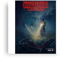 Stranger Things Tv Series Canvas Print