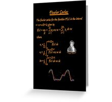 Joseph Fourier and Fourier Series Greeting Card