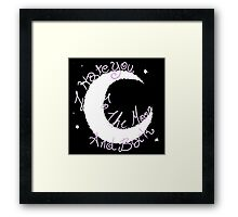 Hate to The Moon Framed Print