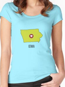 Iowa State Heart Women's Fitted Scoop T-Shirt