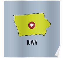 Iowa State Heart Poster