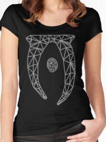 80's Cyber Oblivion and Skyrim Elder Scrolls Logo Women's Fitted Scoop T-Shirt