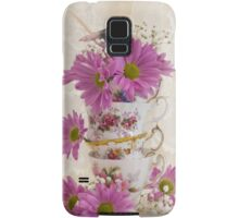 Tea Cups And Daisies  Samsung Galaxy Case/Skin