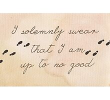 I Solemnly Swear I am Up to No Good Photographic Print