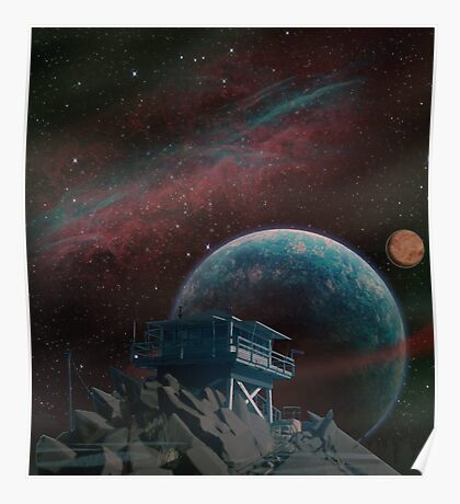 Firewatch tower view of space Poster