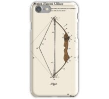 Archery Bow Patent - Colour iPhone Case/Skin