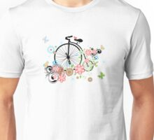 Bicycle and Floral Ornament 2 Unisex T-Shirt