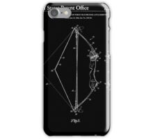 Archery Bow Patent - Black and White iPhone Case/Skin