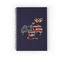 AMERICA DRAGON FLAG FIRE RINGS  Spiral Notebook