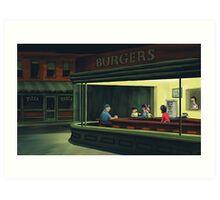 Bobs Burgers Nighthawks Art Print