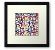 colorful lines pattern Framed Print
