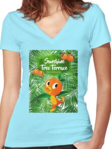 Sunshine Tree Terrace - Home of the Orange Bird Women's Fitted V-Neck T-Shirt