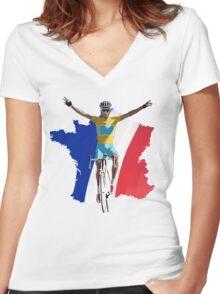 Vainqueur Women's Fitted V-Neck T-Shirt