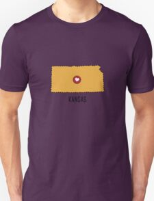 Kansas State Heart Unisex T-Shirt