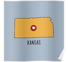 Kansas State Heart Poster