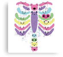 Bear Bones Kawaii Canvas Print