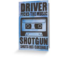 Driver Picks the Music Greeting Card
