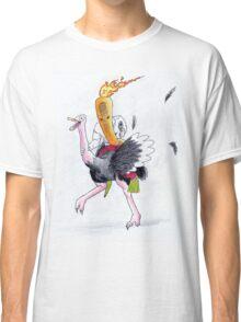 Flaming Carrot Riding An Ostritch Classic T-Shirt