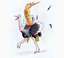 Flaming Carrot Riding An Ostritch Unisex T-Shirt