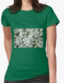 Soft leaves pattern. Womens Fitted T-Shirt