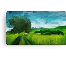 Tree Wind Sunlight Canvas Print