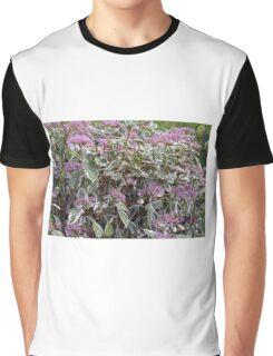 Bush of pink flowers. Graphic T-Shirt