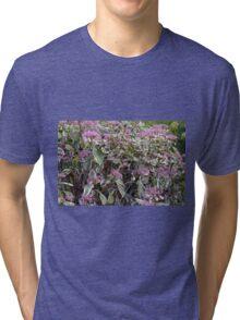 Bush of pink flowers. Tri-blend T-Shirt