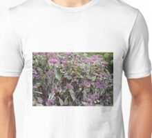 Bush of pink flowers. Unisex T-Shirt