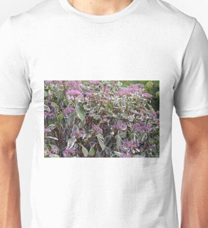 Bush of pink flowers. Unisex T-Shirt