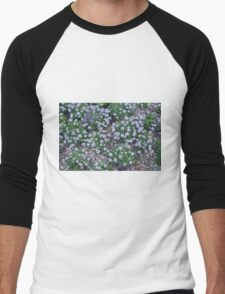 Delicate small purple flowers. Men's Baseball ¾ T-Shirt