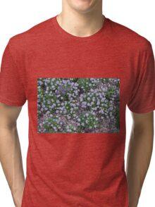 Delicate small purple flowers. Tri-blend T-Shirt