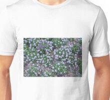 Delicate small purple flowers. Unisex T-Shirt