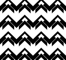 chevron pattern in black and white 03 by VanGalt