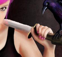 The Raven Girl Sticker