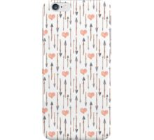 Arrows and heart pattern iPhone Case/Skin