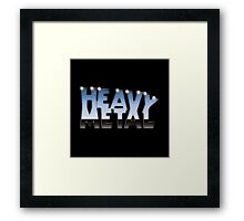 Heavy Metal Logo Framed Print