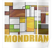 Mondrian Brown Yellow Green  Poster