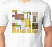 Mondrian Brown Yellow Green  Unisex T-Shirt