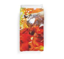 Apricot Resin Abstract Duvet Cover