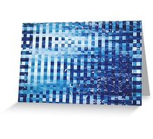 Abstract sea pixel pattern  Greeting Card