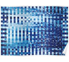 Abstract sea pixel pattern  Poster