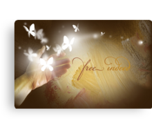 Free Indeed Glowing Butterflies Canvas Print