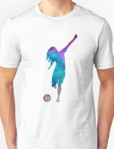 Woman soccer player 05 in watercolor Unisex T-Shirt