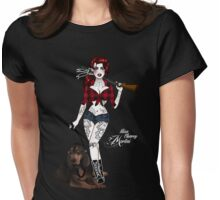 Hillbilly Deluxe with Hound Dog Womens Fitted T-Shirt