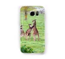 'SHALL WE DANCE!' Kangaroos stand tall. 'Arilka' Mount Pleasant. Samsung Galaxy Case/Skin