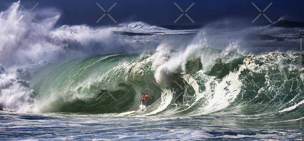 Andy Irons At 2009 Quiksilver in Memory of Eddie Aikau Contest by Alex Preiss