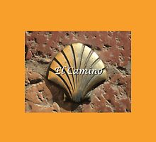 El Camino gold shell, Leon,Spain (caption) Unisex T-Shirt