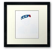 President Donald Trump American Patriot Vintage Framed Print